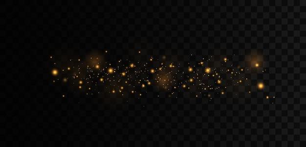 Fond lumineux doré festif avec bokeh de lumières colorées