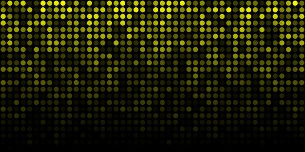 Fond lumineux horizontal abstrait technologie jaune. pixel de lueur numérique dégradé
