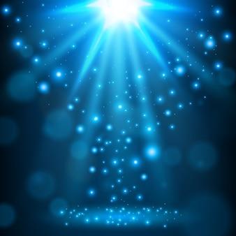 Fond lumineux de lumière bleue