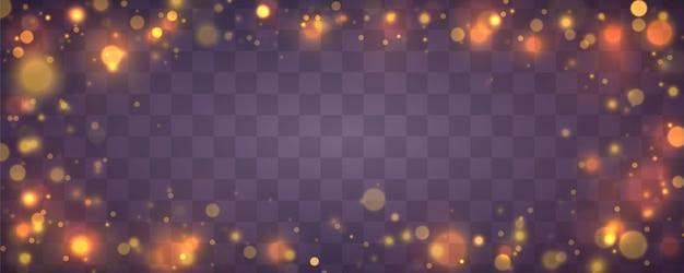 Fond lumineux de noël festif violet et doré.