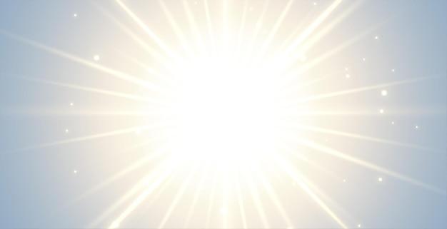 Fond lumineux avec des rayons éclatants