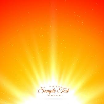 Fond lumineux sunburst brillant