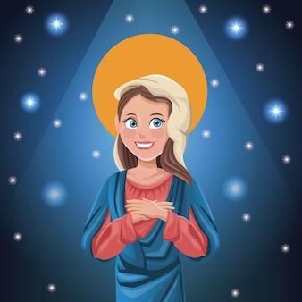 Fond lumineux de la vierge marie
