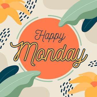 Fond de lundi de memphis avec des fleurs