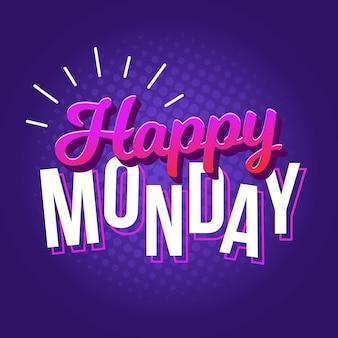 Fond de lundi avec salutation
