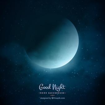 Fond lune nuit