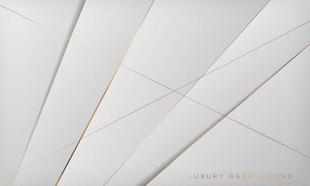 Fond de luxe abstrait blanc et gris avec ligne dorée.