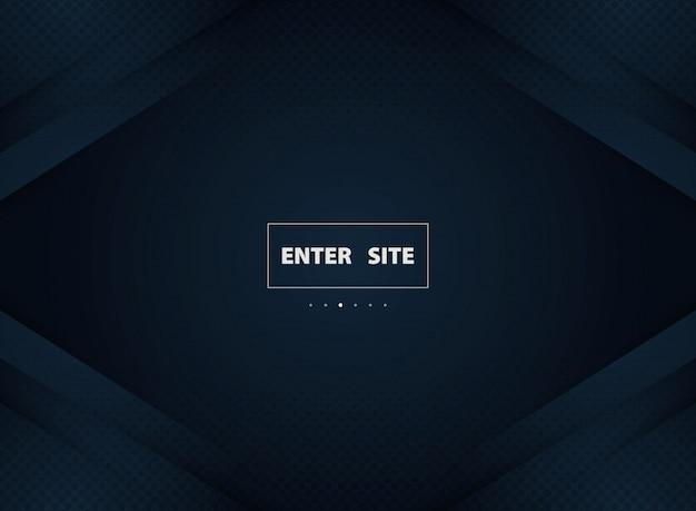 Fond de luxe abstrait bleu dégradé avec la moitié de la décoration de cercle noir.