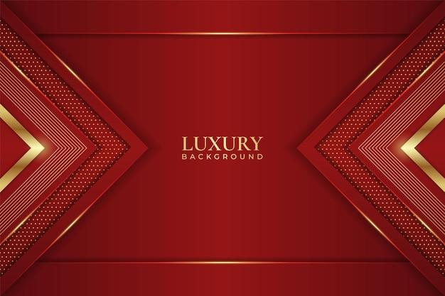 Fond de luxe abstrait flèche élégante géométrique ligne brillante lueur or avec marron
