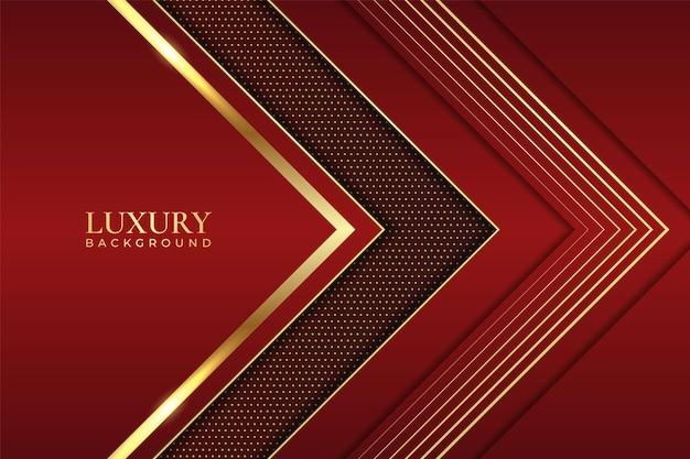 Fond de luxe abstrait flèche élégante géométrique ligne brillante or avec marron