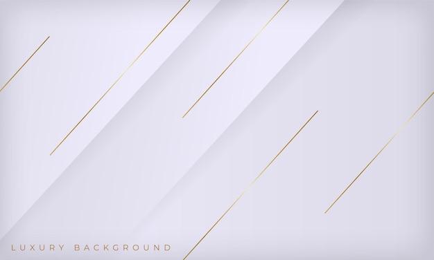 Fond de luxe abstrait lignes blanches et dorées