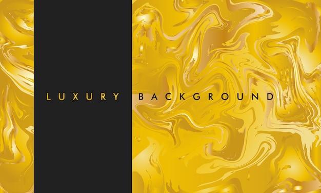 Fond de luxe abstrait marbre or