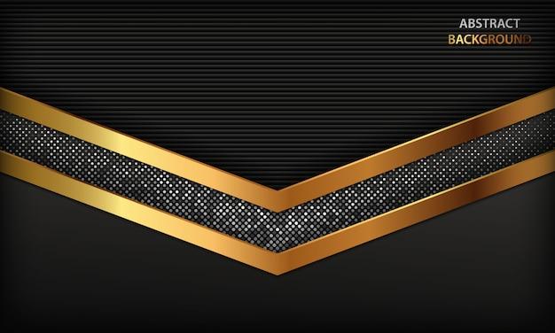 Fond de luxe abstrait noir