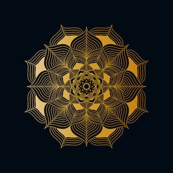 Fond de luxe créatif mandala avec motif d'arabesque doré, style oriental islamique arabe
