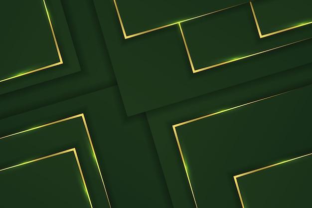 Fond de luxe avec un design vectoriel dégradé vert doré foncé