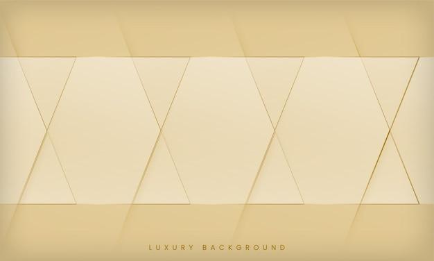 Fond de luxe diagonal clair doré avec une forme et des lignes géométriques minimales