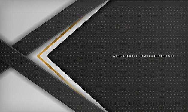 Fond de luxe diagonal noir et blanc avec élément doré