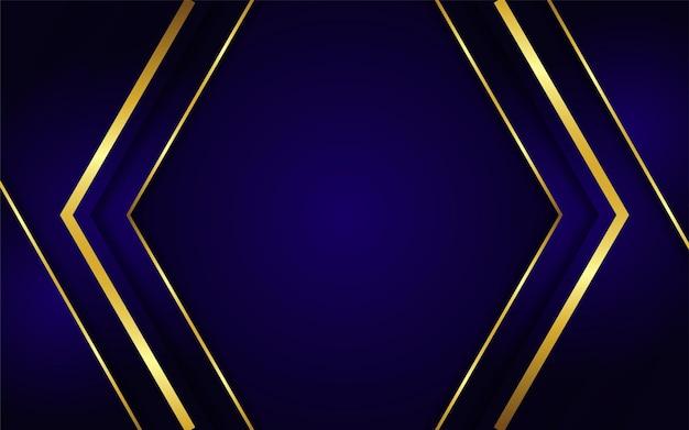 Fond de luxe doré dégradé élégant