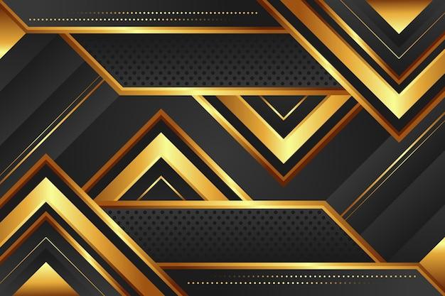 Fond de luxe doré dégradé avec triangle