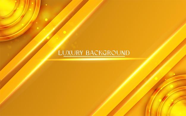 Fond De Luxe Doré Dégradé Vecteur Premium