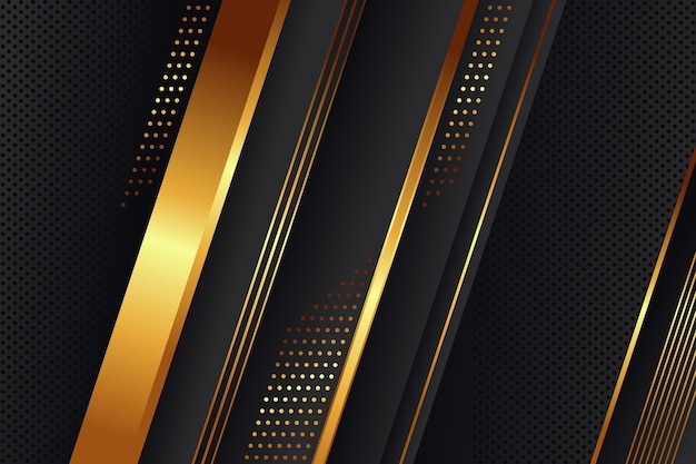 Fond de luxe doré dégradé