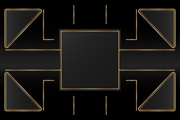 Fond de luxe doré avec ligne de chemin d'or géométrique