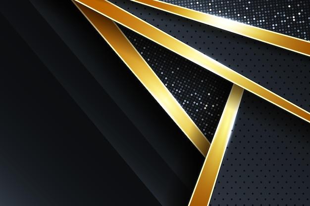Fond de luxe doré réaliste