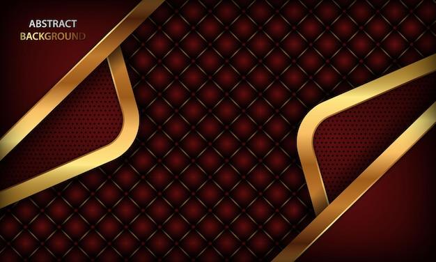 Fond de luxe élégant premium rouge abstrait avec des éléments en or