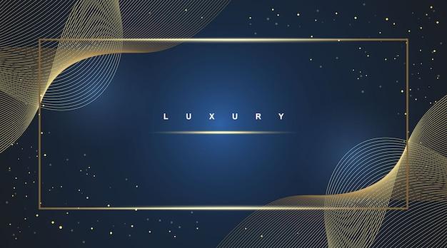 Fond de luxe, élément de design abstrait vague moderne couleur brillante or