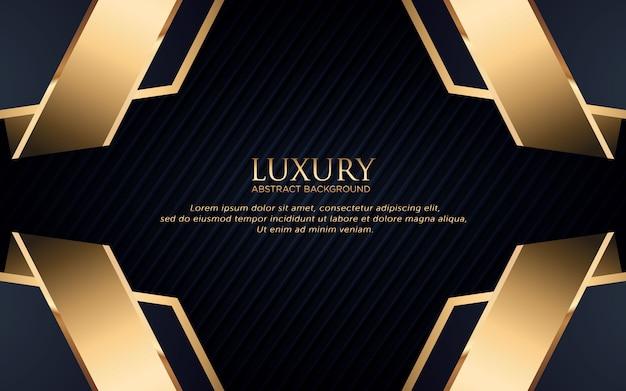 Fond de luxe avec forme géométrique et bande dorée