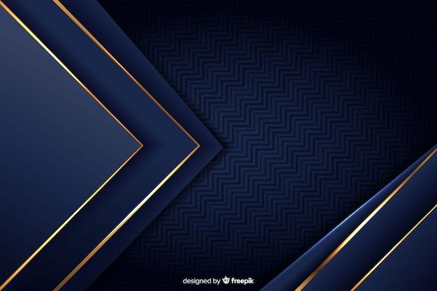 Fond de luxe avec des formes abstraites dorées