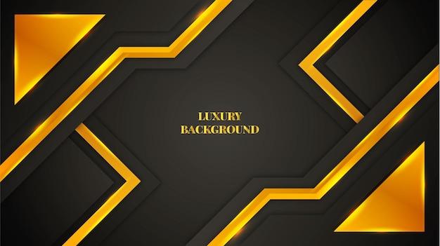 Fond de luxe avec des formes et des lumières de couleur dorée et dégradée.