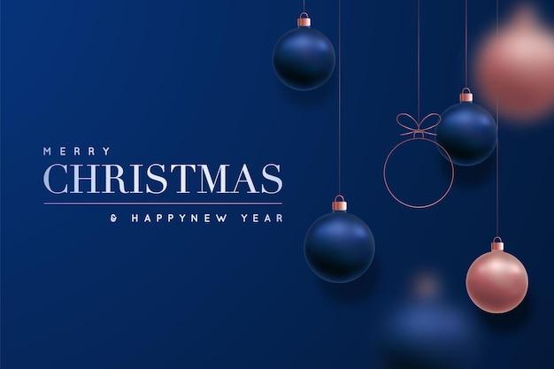 Fond de luxe joyeux noël et bonne année
