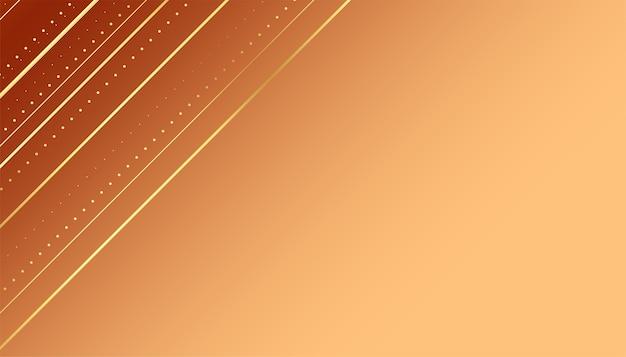 Fond de luxe avec des lignes diagonales dorées