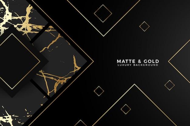 Fond de luxe en marbre noir or mat