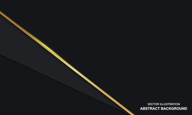 Fond de luxe noir et or abstrait moderne