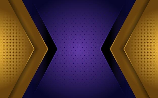 Fond de luxe or et violet élégant