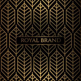 Fond de luxe premium avec couleur or