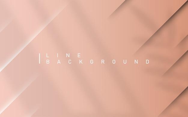 Fond de luxe rose clair. fond coloré abstrait ligne diagonale premium avec feuille de superposition et ombre dynamique de lumière de fenêtre.