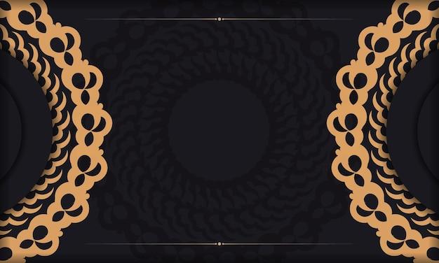 Fond de luxe sombre avec ornement de mandala abstrait. éléments élégants et classiques avec un espace pour votre texte.
