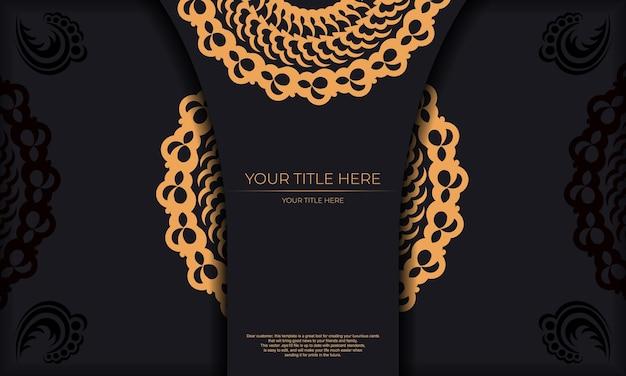 Fond de luxe sombre avec des ornements indiens. éléments élégants et classiques prêts pour l'impression et la typographie.
