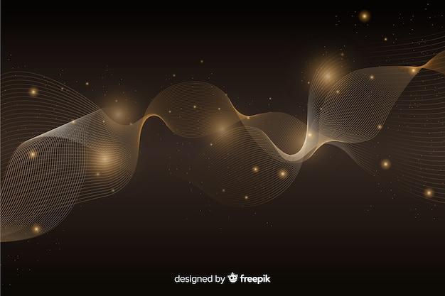 Fond de luxe avec vague dorée abstraite