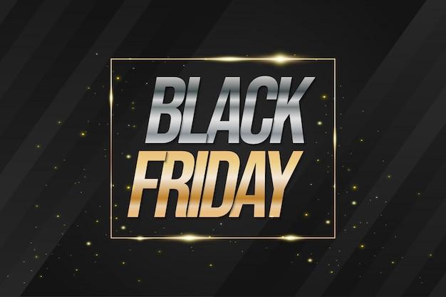 Fond de luxe vendredi noir pour bannière publicitaire