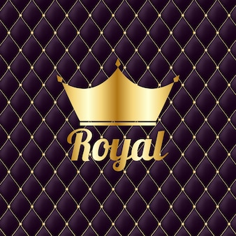 Fond de luxe vintage royal couronne d'or
