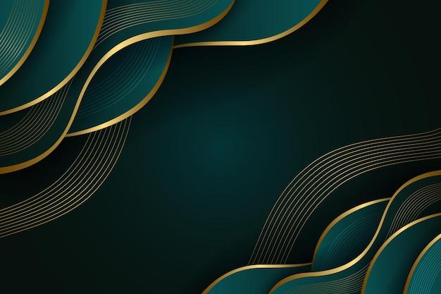 Fond luxueux de détails dorés