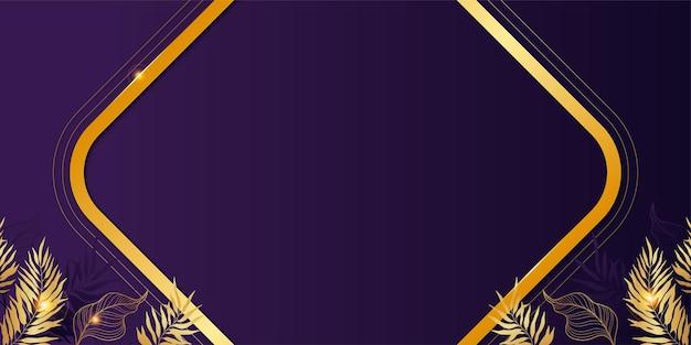 Fond luxueux violet avec des détails dorés vecteur gratuit
