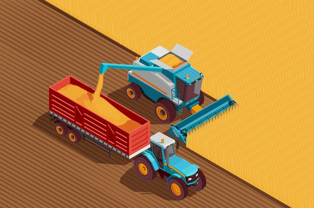 Fond de machines agricoles