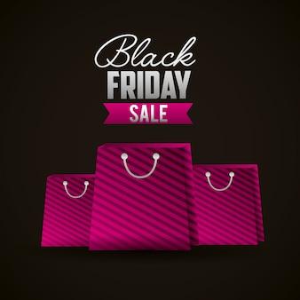 Fond de magasinage vendredi noir