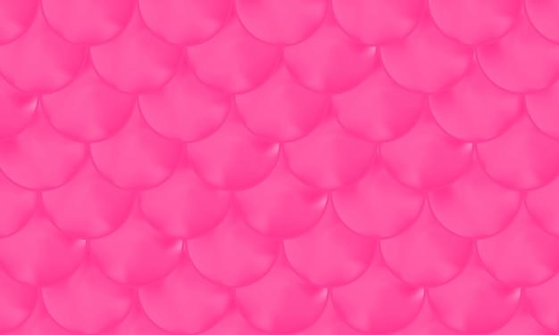 Fond magenta. motif rose. écailles de sirène. squama poisson