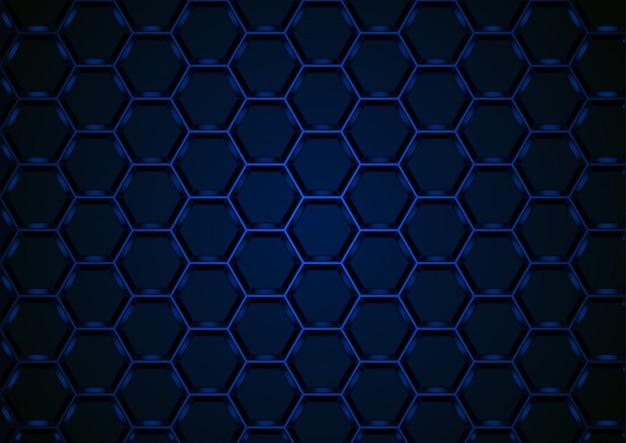 Fond de maille 3d hexagonal bleu